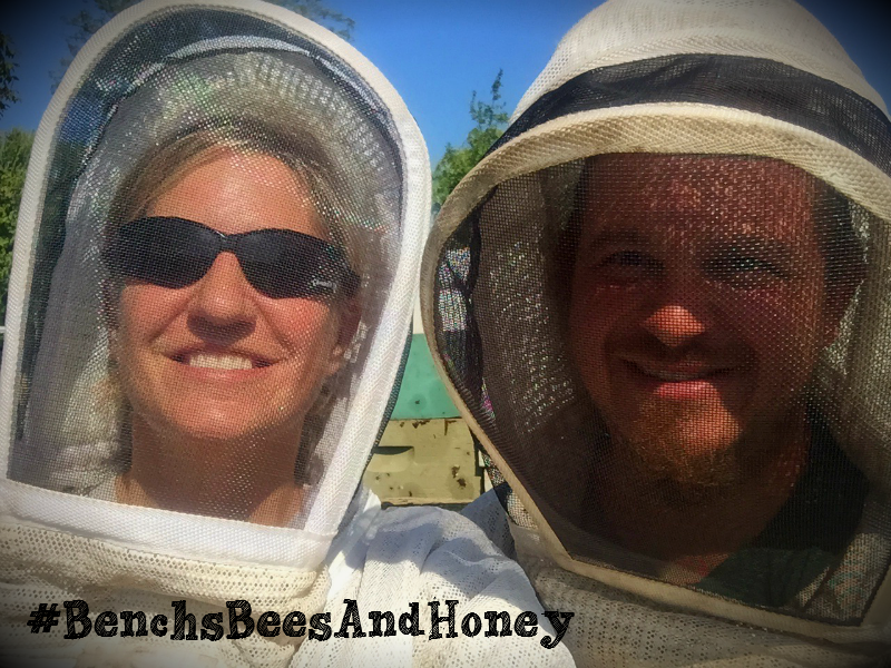 Your beekeepers at Bench's Bees & Honey, Arik and Beth Bench!